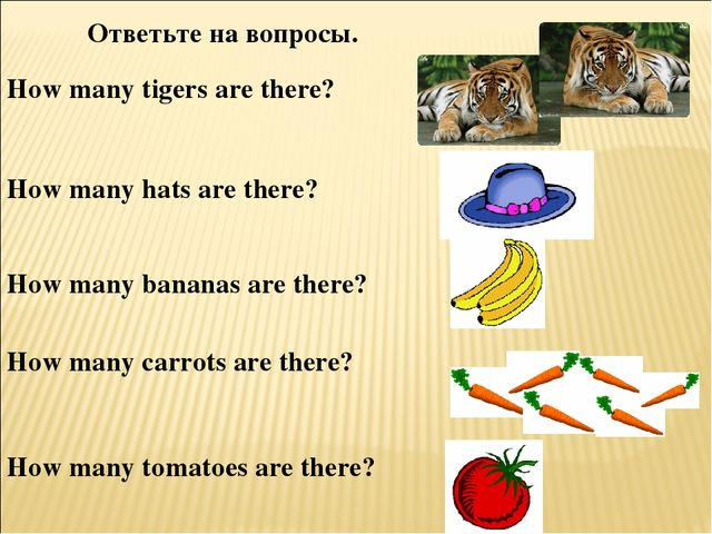 How many tigers are there? How many hats are there? How many bananas are ther...