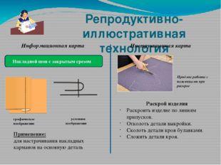 Репродуктивно-иллюстративная технология Информационная карта Накладной шов с