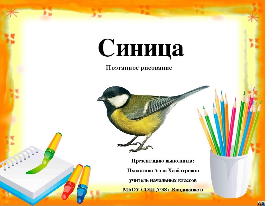Презентацию выполнила: Пхалагова Алла Хазбатровна учитель начальных классов М...