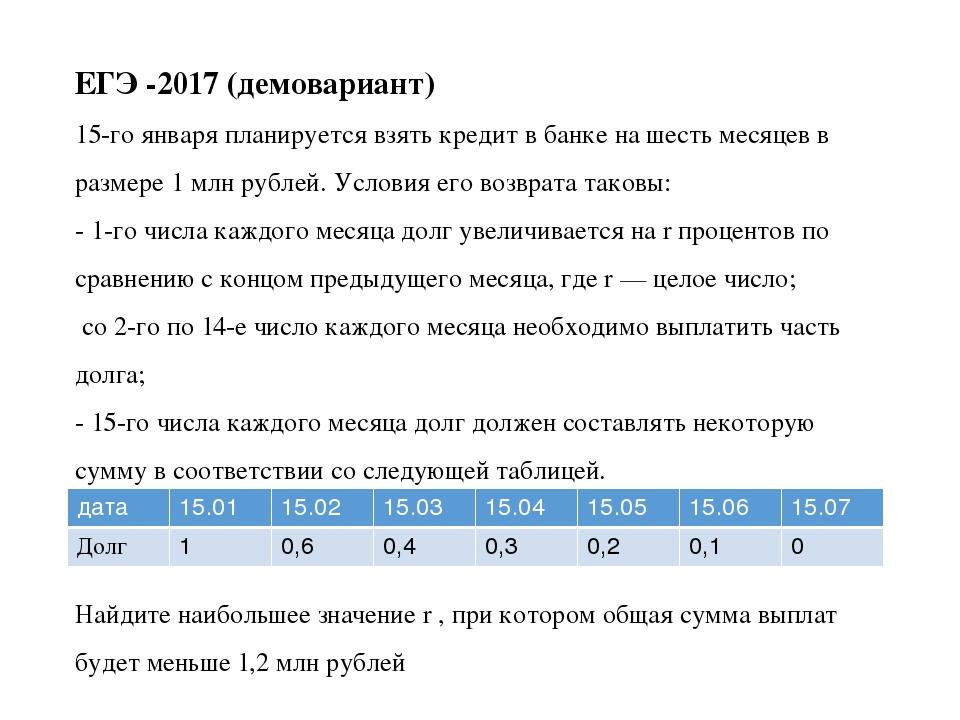 15 января планируется взять кредит в банке на 9 месяцев условия таковы 1-го 44 положение которое занимает вид в биоценозе называют