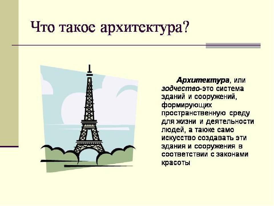 презентация про архитектуру с картинками