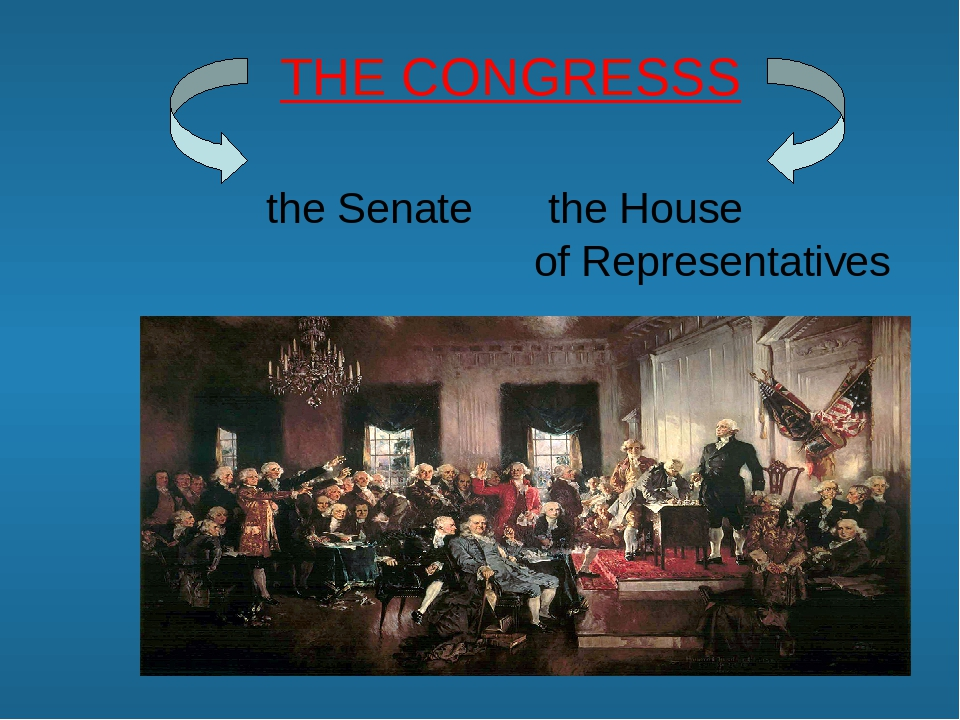 THE CONGRESSS the Senate the House of Representatives
