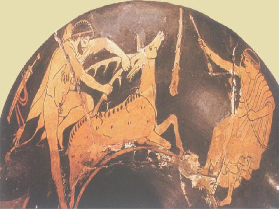 Керинейская лань и геракл картинки