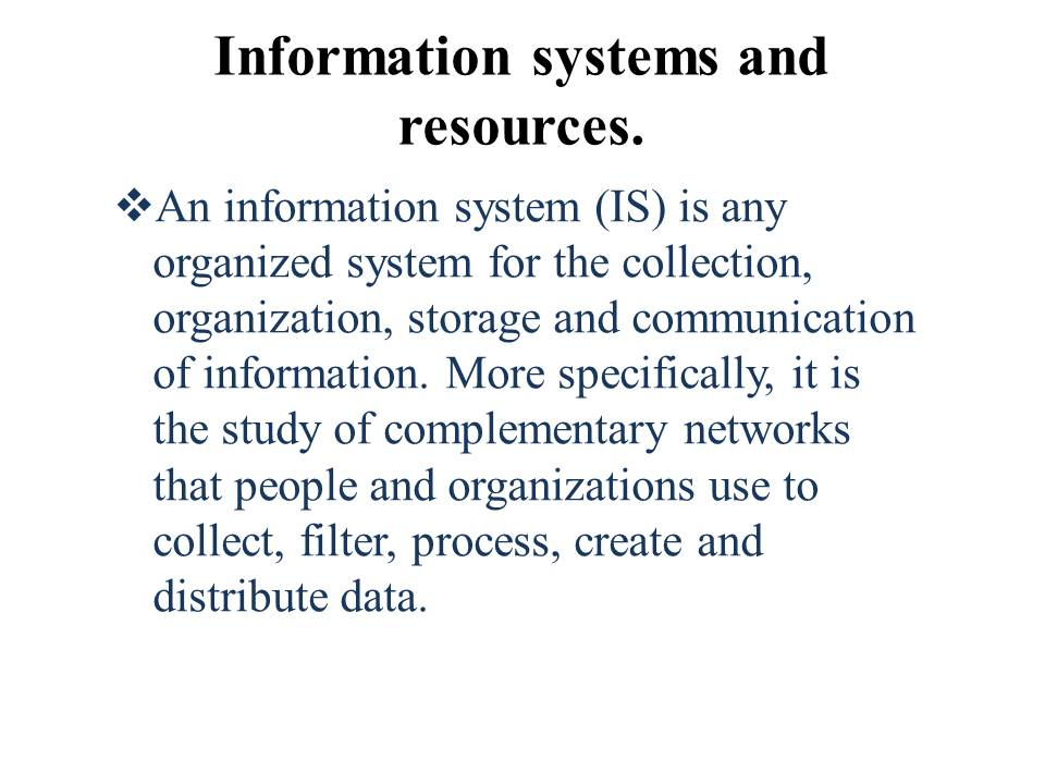 information systems study of complementary networks