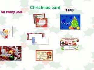 Christmas card Sir Henry Cole 1843