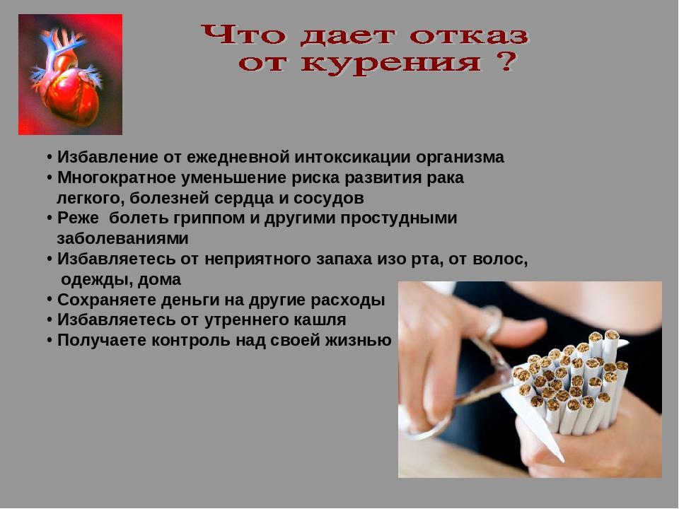 Восстановление организма от курения по дням