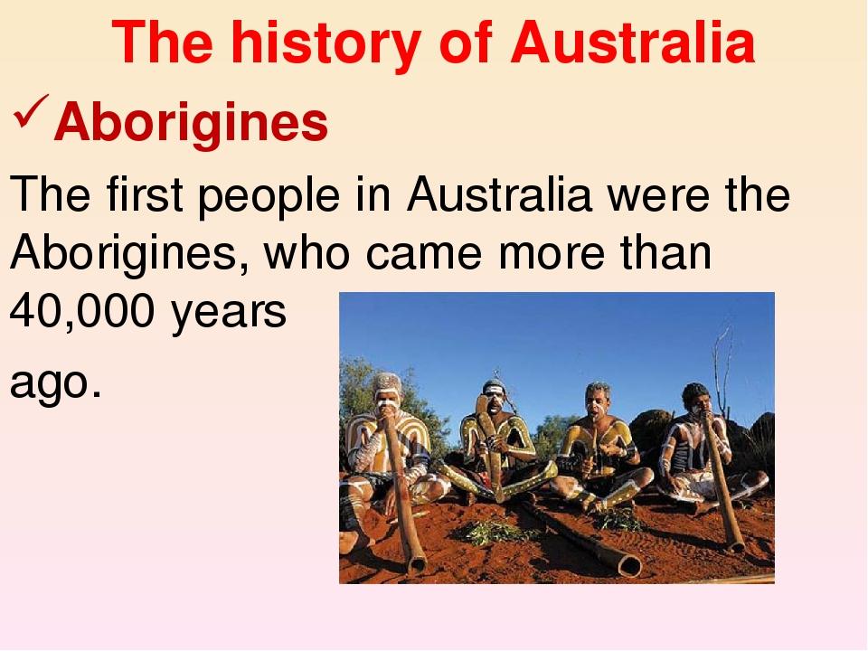 history aboriginies in australia