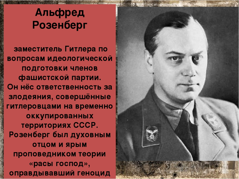 about alfred rosenberg and hitlers ancestors