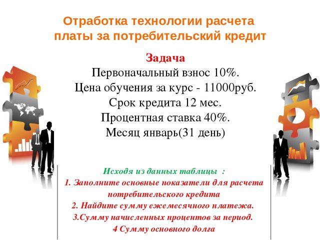 Потребительский кредит на месяц