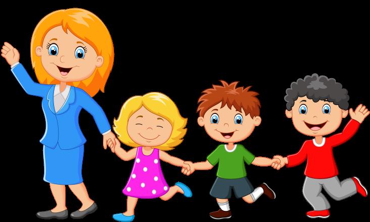 картинки дети и взрослые рисованные