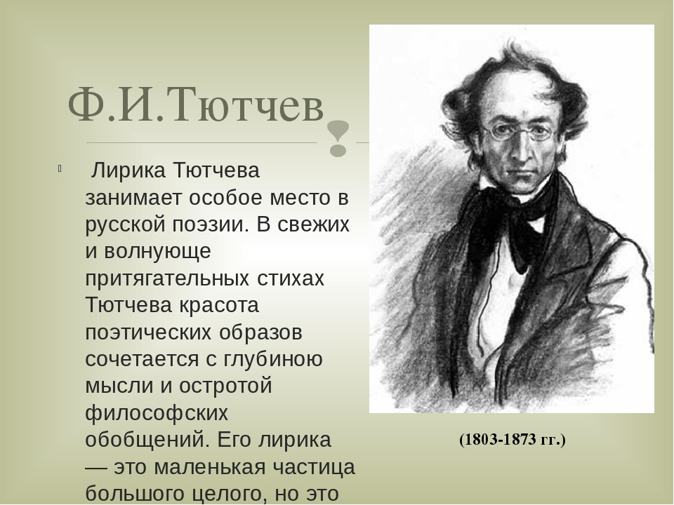 точно политические стихи тютчева сделал ему замечания