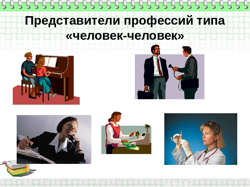 Представители профессий типа «человек-человек»