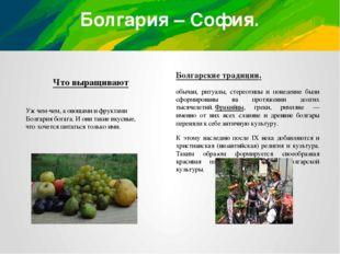 Болгария – София. Что выращивают Болгарские традиции. обычаи, ритуалы, стерео