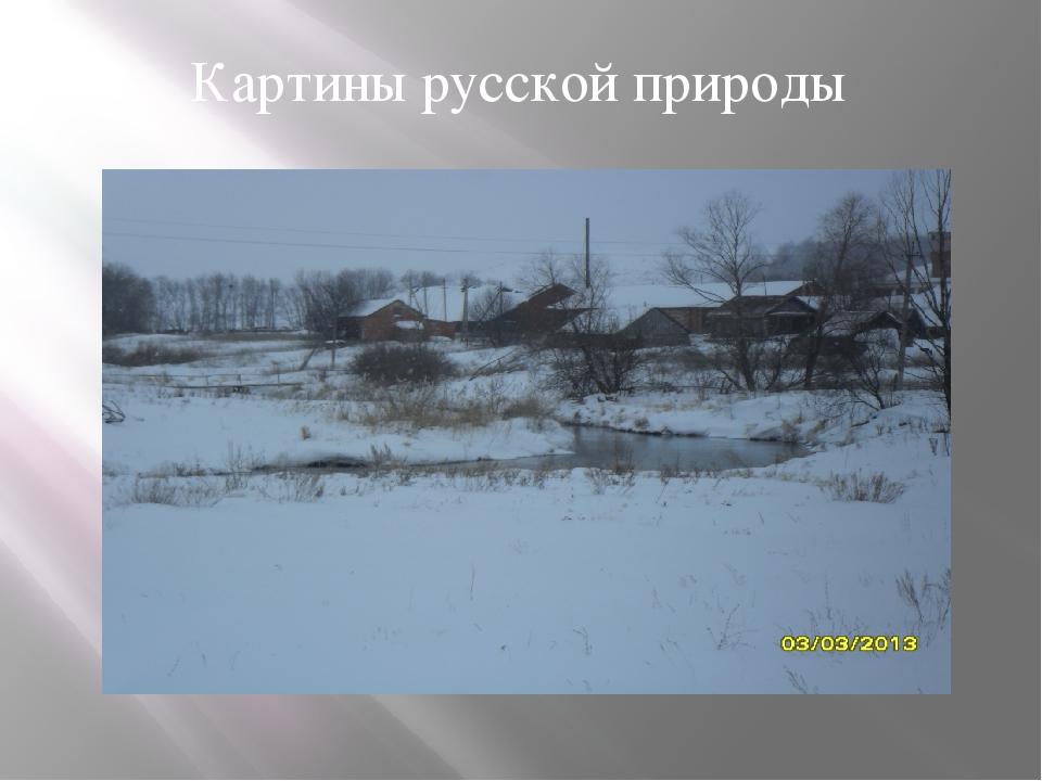 Картины русской природы
