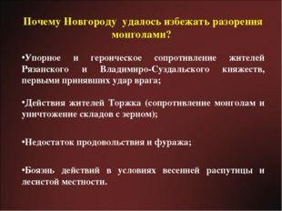Почему Новгороду удалось избежать разорения монголами? Упорное и героическое