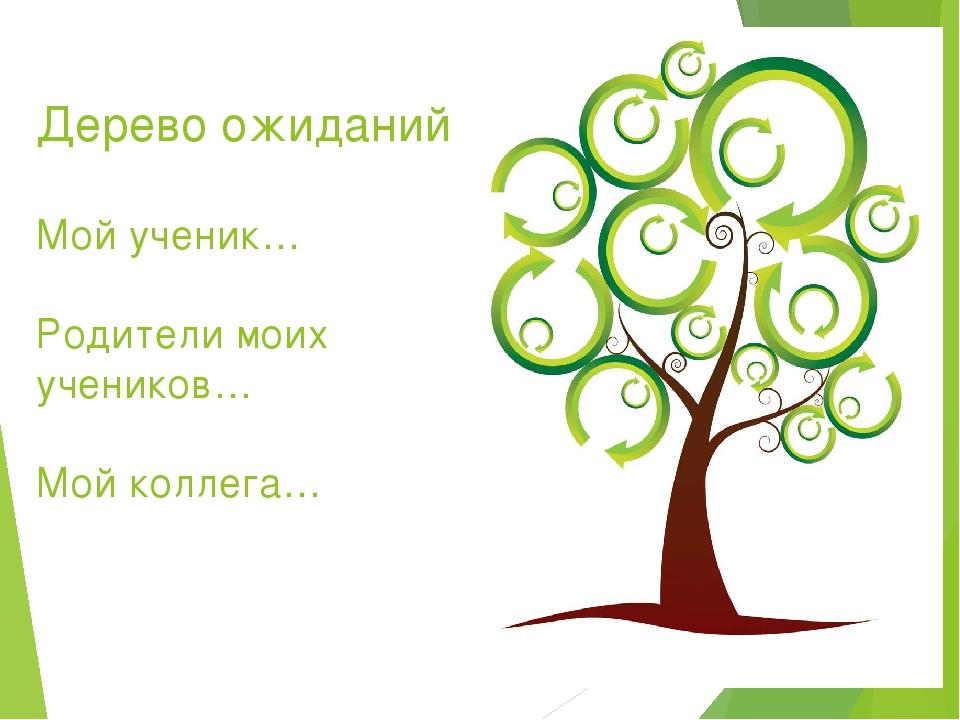 Дерево ожиданий Мой ученик… Родители моих учеников… Мой коллега…