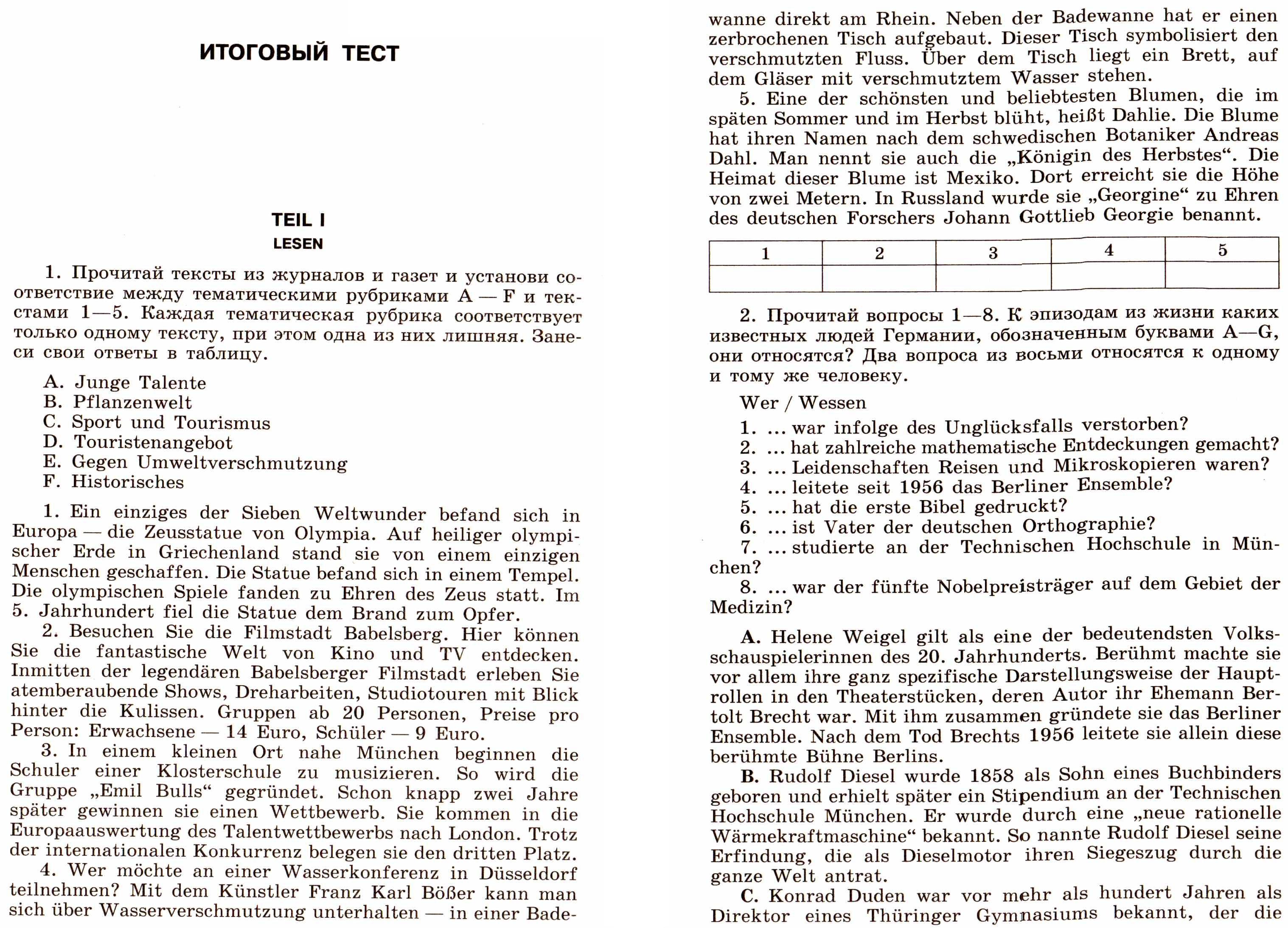 итоговый тест по литературе 10 класс с ответами