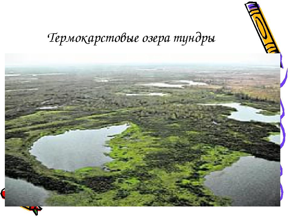 Термокарстовые озера тундры
