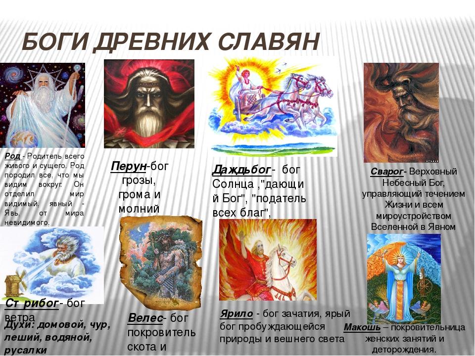 Боги славян список с картинками и их способности