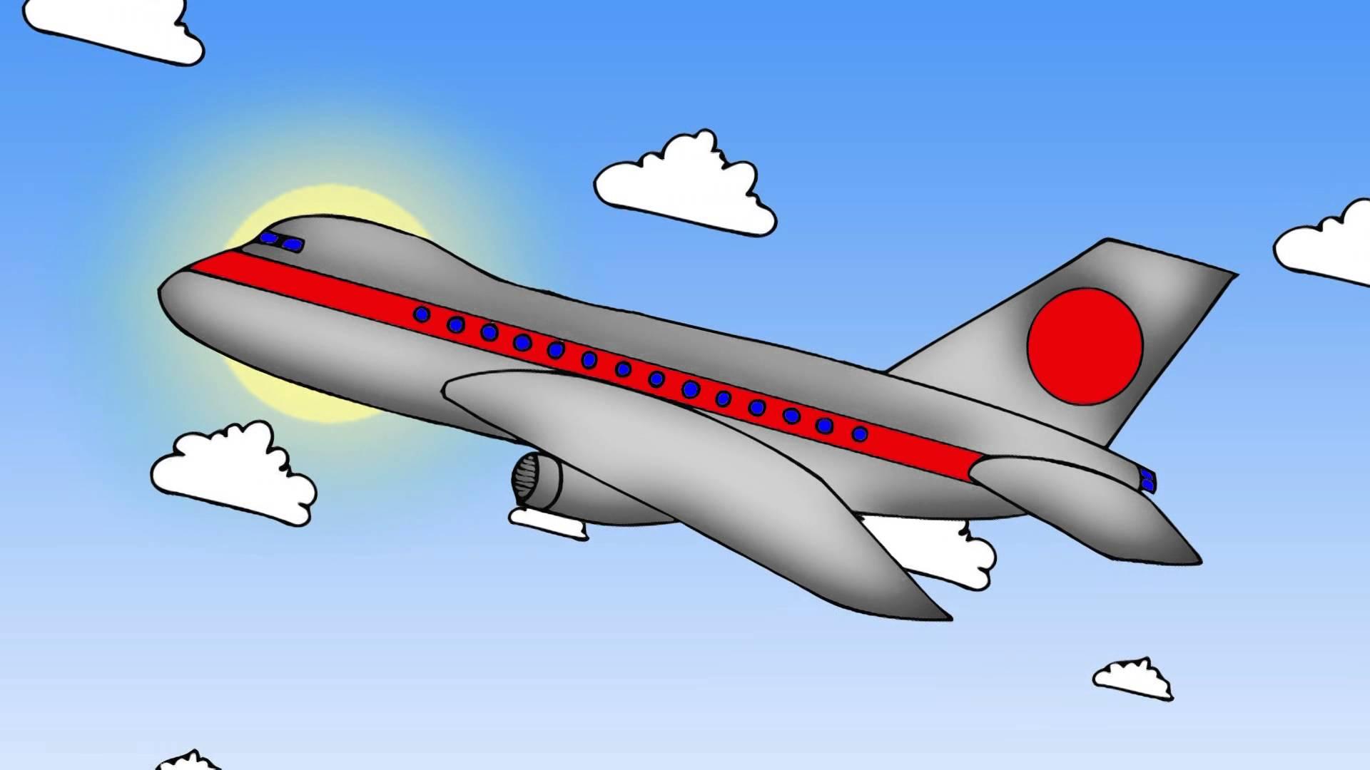 Нарисованная картинка самолета
