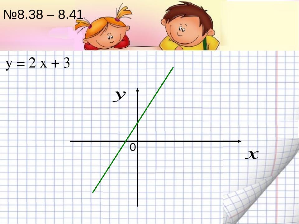 №8.38 – 8.41 0 у = 2 х + 3