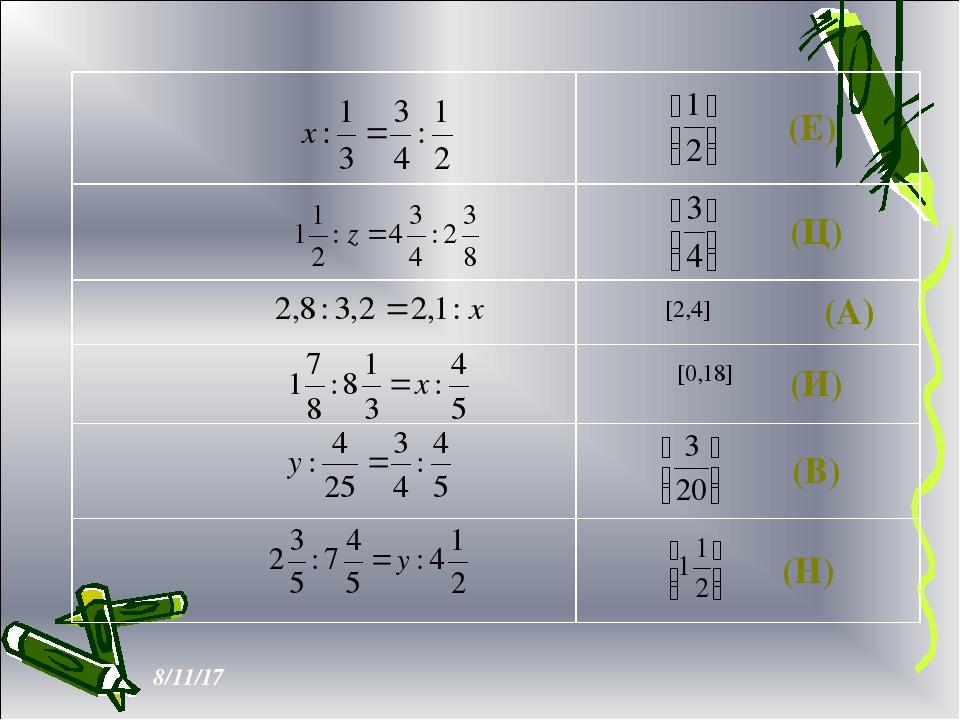[2,4] [0,18] (Е) (Ц) (А) (И) (В) (Н)