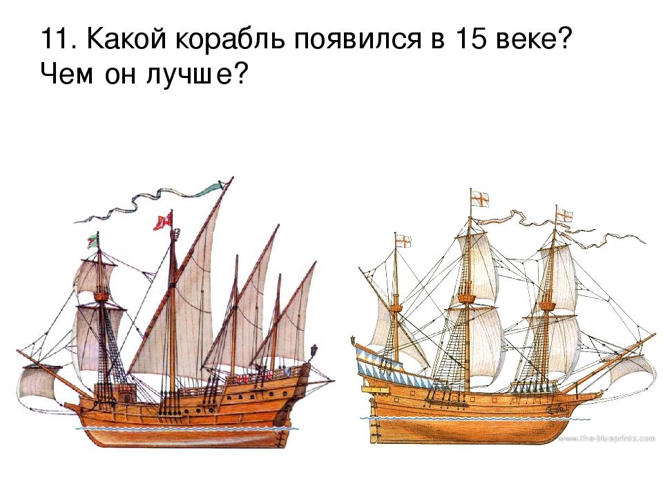 11. Какой корабль появился в 15 веке? Чем он лучше?