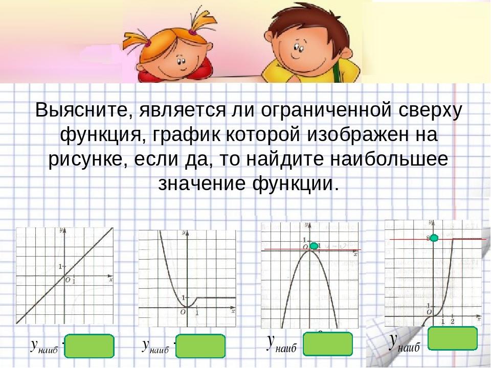 Выясните, является ли ограниченной сверху функция, график которой изображен н...