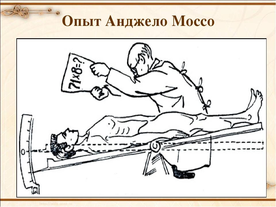 Опыт Анджело Моссо