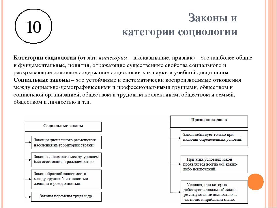 Социологические законы и категории реферат 3898