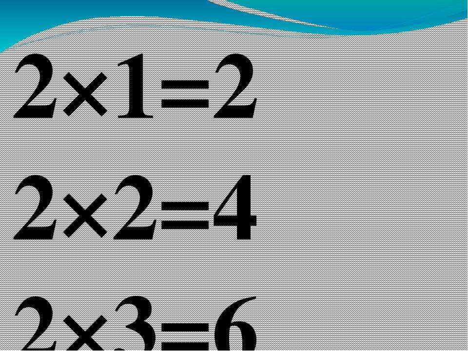 2×1=2 2×2=4 2×3=6 2×4=8 2×5=10 2×6=12 2×7=14 2×8=16 2×9=18 2×10=20 3×1=3 3×...