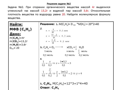 Решение задачи при сгорании органического вещества решение задачи треугольниками
