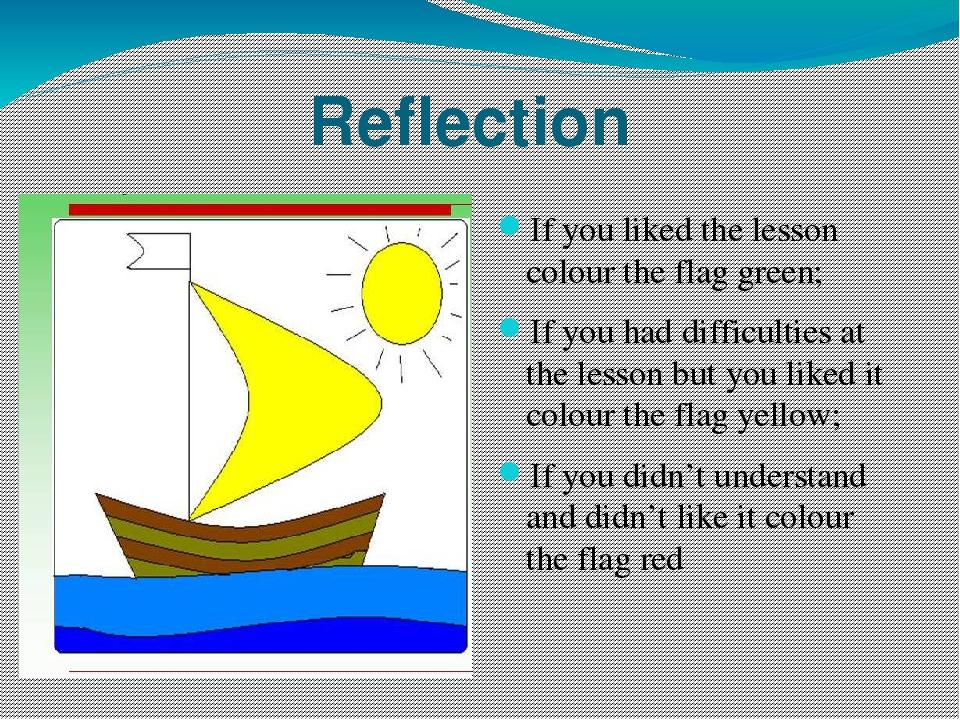 english reflection