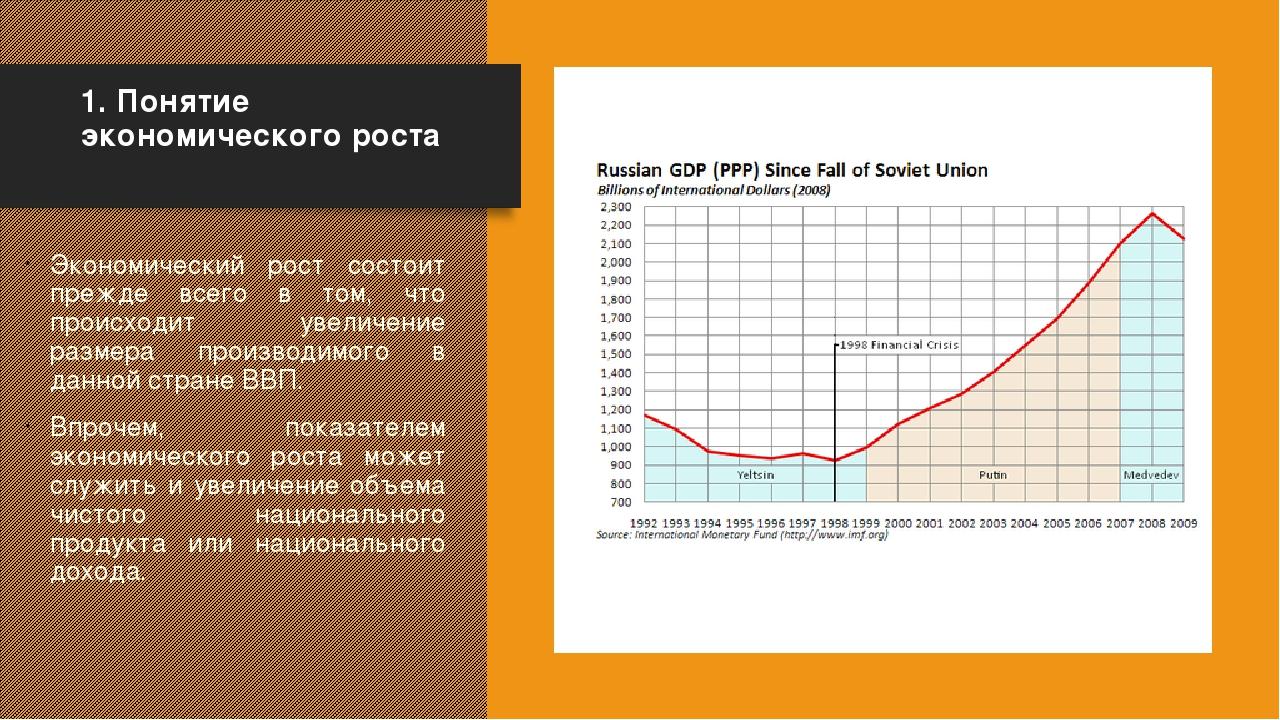 1. Понятие экономического роста Экономический рост состоит прежде всего в то...