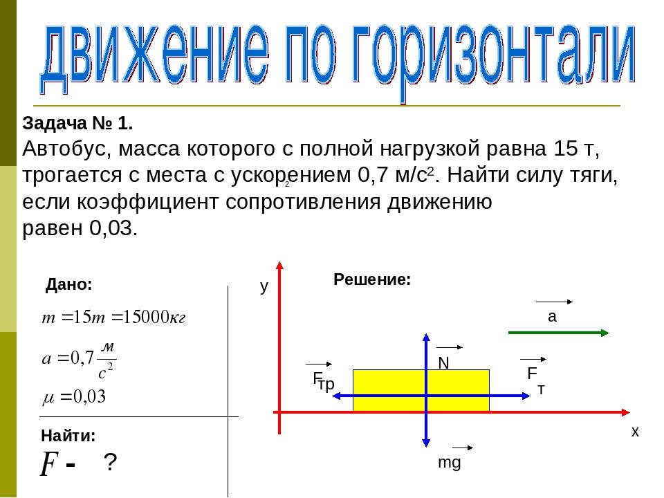 Решение задач на движение под действием нескольких сил задача 6 класса по математике решение