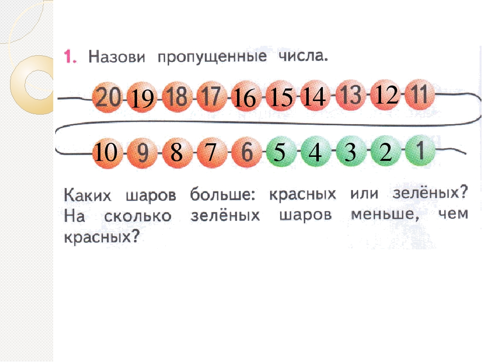 19 16 15 14 12 10 8 7 5 4 3 2