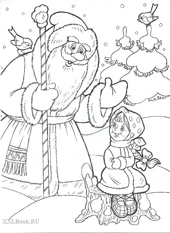 шишкова герои новогодних сказок картинки карандашом стоит