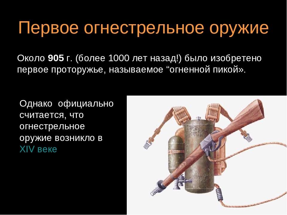 презентация огнестрельного оружия