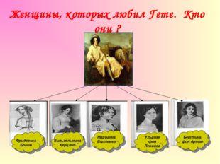 Женщины, которых любил Гете. Кто они ? Вильгельмина Херцлиб Марианна фон Вилл