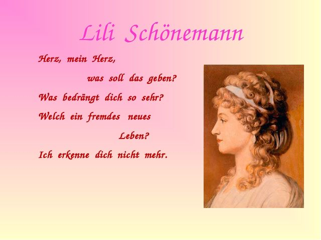 Lili Schönemann Herz, mein Herz, was soll das geben? Was bedrängt dich so...