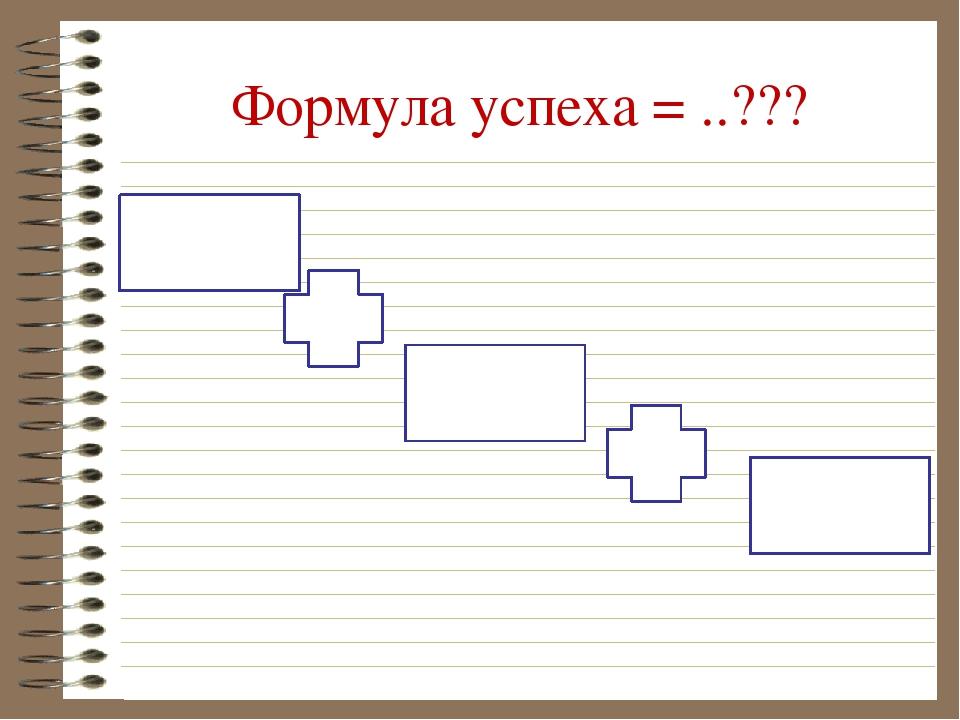 Формула успеха = ..???
