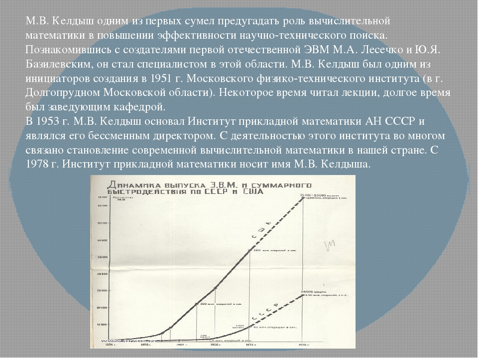 М.В. Келдыш одним из первых сумел предугадать роль вычислительной математики...