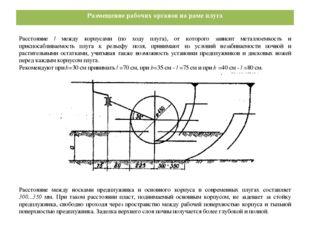 Размещение рабочих органов на раме плуга Расстояние l между корпусами (по ход