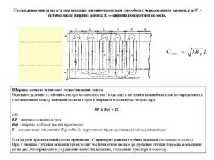 Схема движения агрегата при вспашке загонно-петлевым способом с чередованием