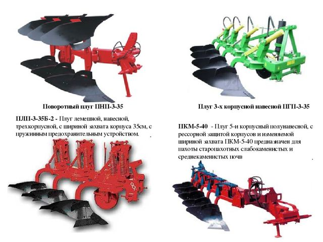 Поворотный плуг ПНП-3-35 Плуг 3-х корпусной навесной ПГП-3-35 ПЛП-3-35Б-2 - П...