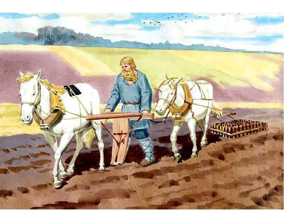 Древние почвообрабатывающие орудия: борона-суковатка, соха Старинный деревянн...