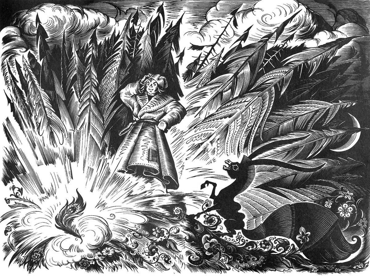 левом углу фото эскизов иллюстрации к сказкам задачи, ставившиеся