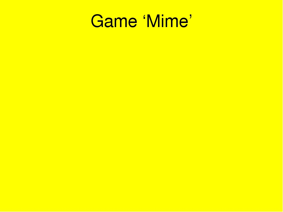 Game 'Mime'