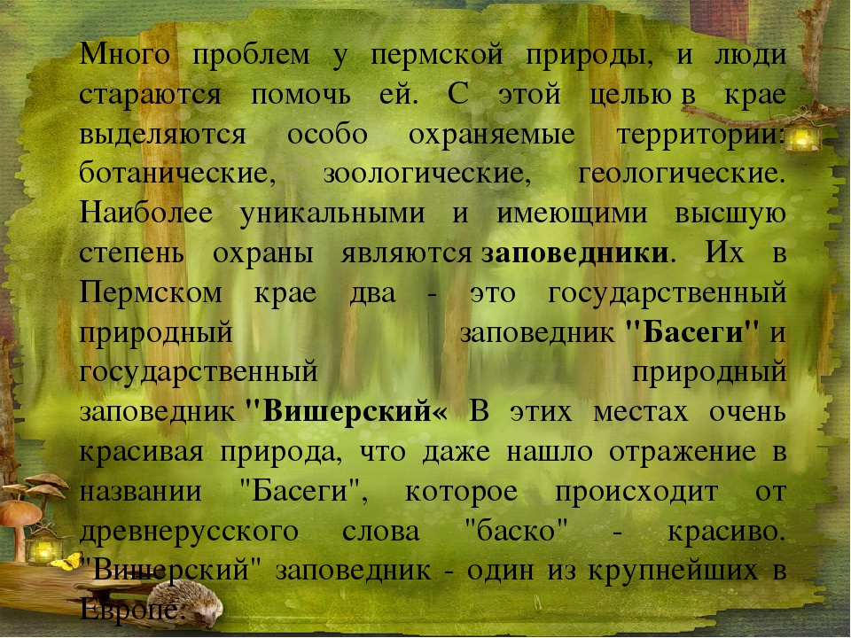 Много проблем у пермской природы, и люди стараются помочь ей. С этой цельюв...