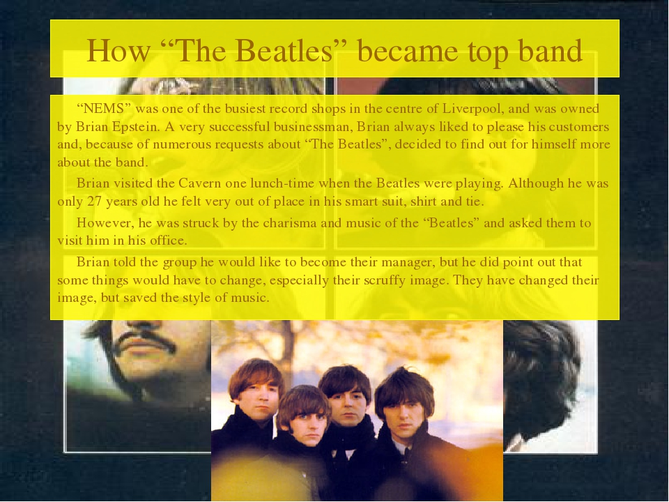 "How ""The Beatles"" became top band ""NEMS"" was one of the busiest record shops..."